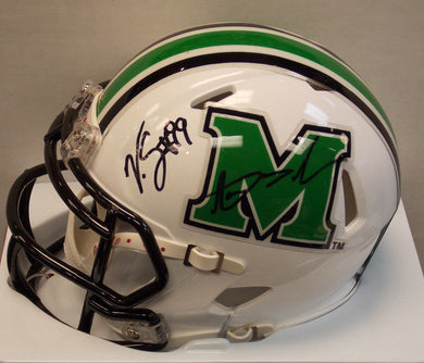 Online sports memorabilia Aaron Dobson and Vinny Curry signed mini Marshall University helmet - Sports Fanz