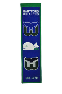 "Hartford Whalers Heritage Banner - 8""x32"""