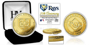Tampa Bay Rays 20th Anniversary Gold Coin