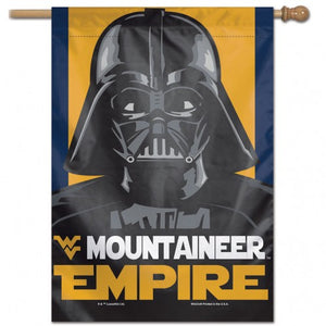 "West Virginia Mountaineers Star Wars Darth Vader Vertical Flag - 28""x40"""