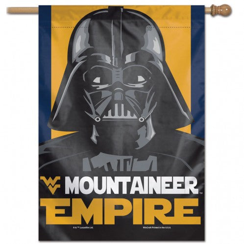 West Virginia Mountaineers Star Wars Darth Vader Vertical Flag - 28