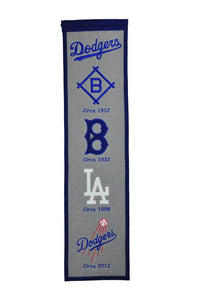 "Los Angeles Dodgers Fan Favorite Heritage Banner - 8""x32"""