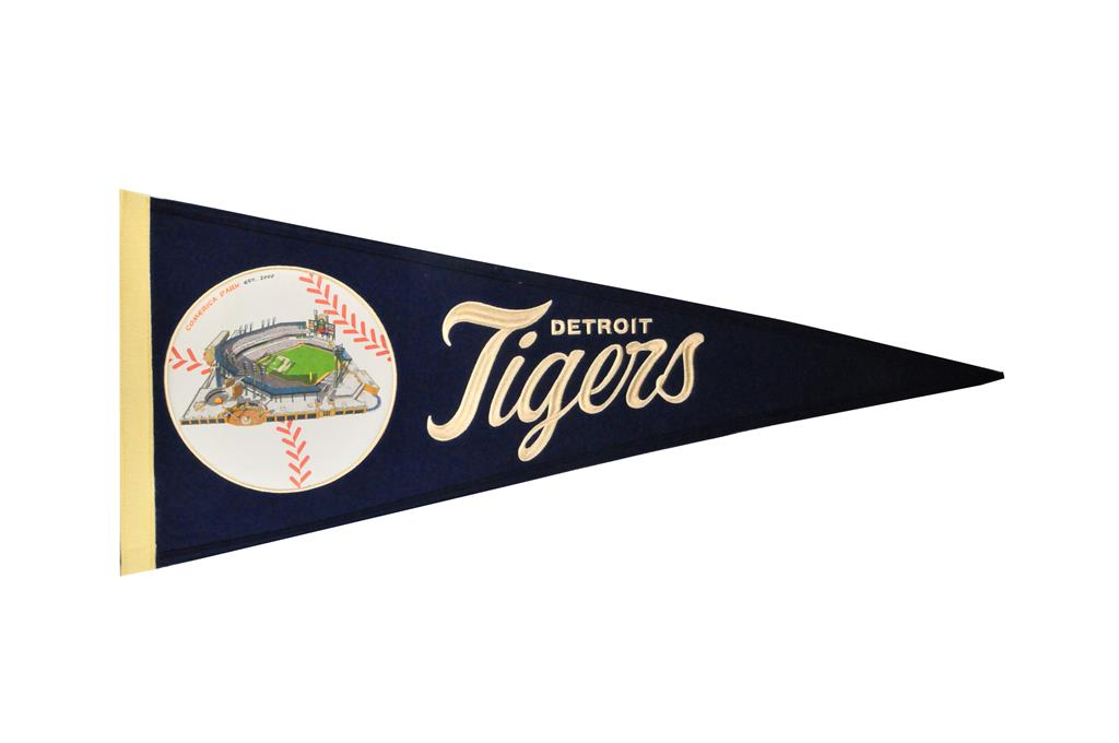 Detroit Tigers Vintage Ballpark Traditions Pennant