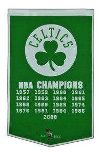 "Boston Celtics Dynasty Wool Banner - 24""x36"""
