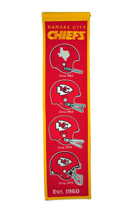 "Kansas City Chiefs Heritage Banner - 8""x32"""
