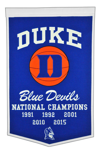 Duke Blue Devils Dynasty Wool Banner - 24
