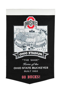 "Ohio State Buckeyes The Horse Shoe Stadium Banner - 15""x24"""