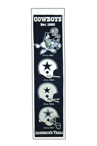 "Dallas Cowboys Heritage Banner - 8""x32"""