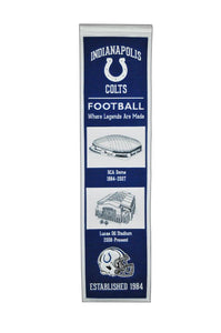 "Indianapolis Colts Stadium Evolution Heritage Banner - 8""x32"""