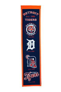 "Detroit Tigers Heritage Banner - 8""x32"""