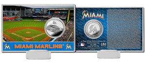 miami marlins, Miami Marlins Silver Coin Card