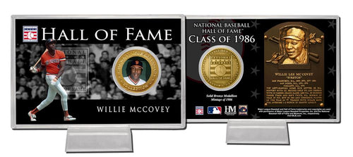 Willie McCovey San Francisco Giants Class of 1986 Hall of Fame Bronze Coin Card