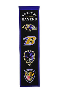 "Baltimore Ravens Fan Favorite Heritage Banner - 8""x32"""