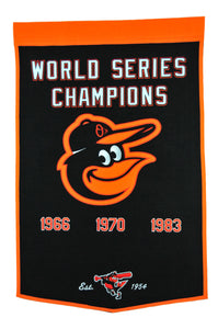 baltimore orioles world series champions wool dynasty banners
