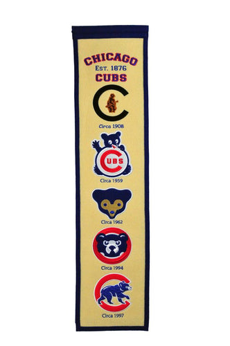 Chicago Cubs Fan Favorite Heritage Banner - 8