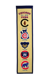 "Chicago Cubs Fan Favorite Heritage Banner - 8""x32"""