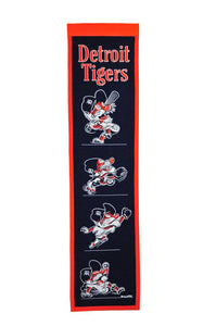 "Detroit Tigers Fan Favorite Heritage Banner - 8""x32"""