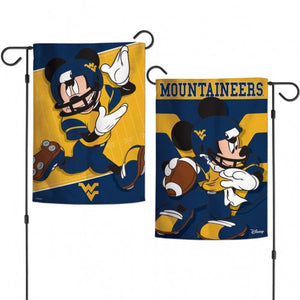 wvu football, wvu garden flag, wvu mickey mouse flag