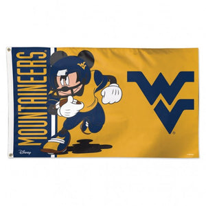 wvu football, wvu flag, wvu mickey mouse flag