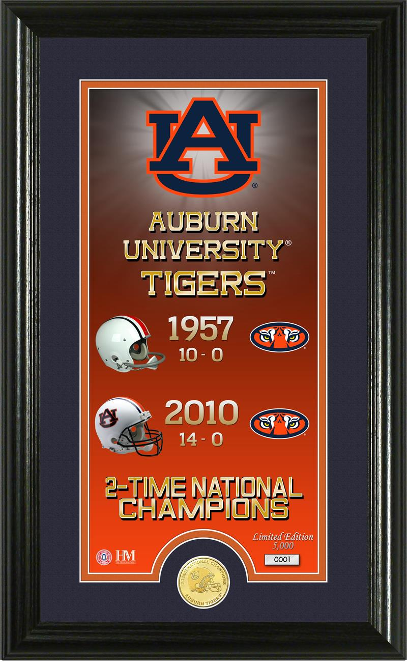 Auburn Tigers Legacy Bronze Coin Panoramic Photo Mint