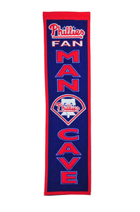 "Philadelphia Phillies Man Cave Banner - 8""x32"""