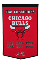 "Chicago Bulls Dynasty Wool Banner - 24""x36"""