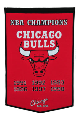 Chicago Bulls Dynasty Wool Banner - 24