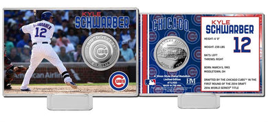 Kyle Schwarber Chicago Cubs Silver Coin Card