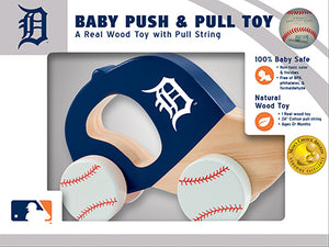 Detroit Tigers Push and Pull Toy