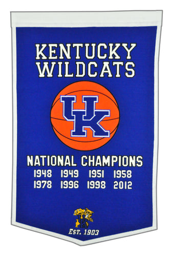 Kentucky Wildcats Dynasty Wool Banner - 24