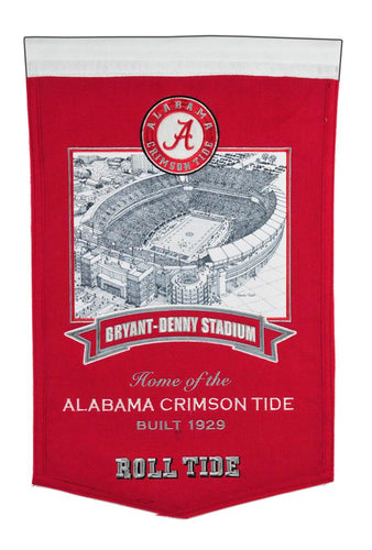 NCAA football memorabilia Alabama Bryant-Denny Stadium banner from Sports Fanz