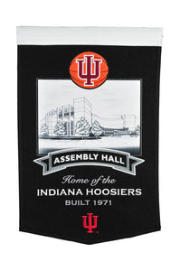 "Indiana Hoosiers Assembly Hall Banner - 15""x24"""