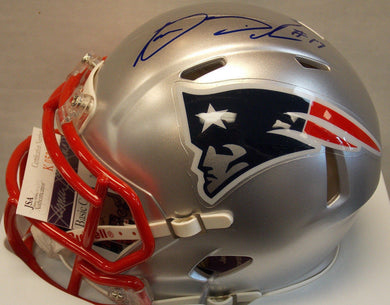 Online sports memorabilia Aaron Dobson signed mini Patriots helmet from Sports Fanz