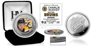 Charlie McAvoy Boston Bruins Silver Color Mint Coin