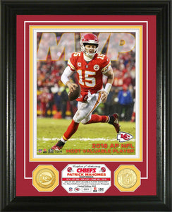 Patrick Mahomes Kansas City Chiefs 2018 NFL MVP Bronze Coin Photo Mint