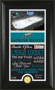 San Jose Sharks House Rules Supreme Bronze Coin Photo Mint