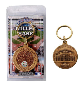 milwaukee brewers game used key chain