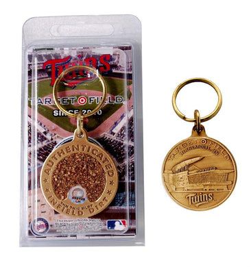 minnesota twins target field infield dirt key chain