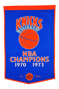 "New York Knicks Dynasty Wool Banner - 24""x36"""