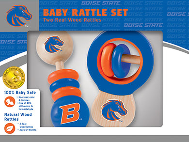 boise state broncos football, boise state broncos basketball, boise state broncos baby rattle set