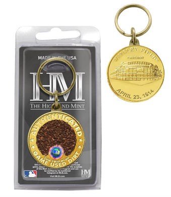 Chicago Cubs Wrigley Field Dirt Coin Keychain