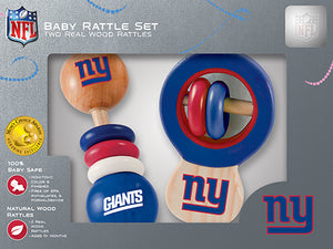 New York Giants Wood Rattles