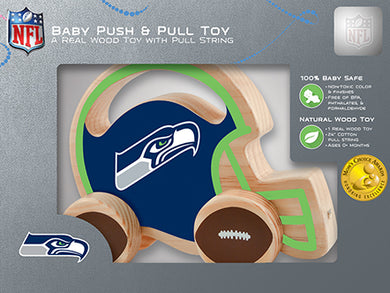 Seattle Seahawks Baby Push and Pull Toy, NFL Kids Toys