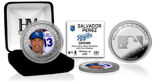 Salvador Perez Kansas City Silver Color Mint Coin