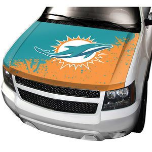 miami dolphins hood cover