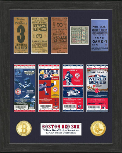 Boston Red Sox 9-Time World Series Champions Ticket Collection
