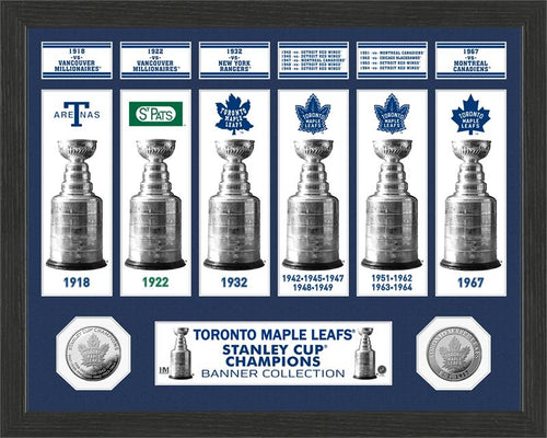 Toronto Maple Leafs Stanley Cup Banner Collection Photo Mint