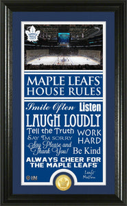Toronto Maple Leafs House Rules Supreme Bronze Coin Photo Mint
