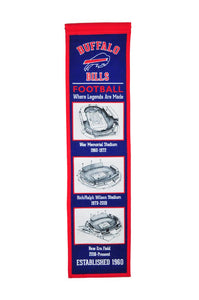 "Buffalo Bills Stadium Evolution Heritage Banner - 8""x32"""