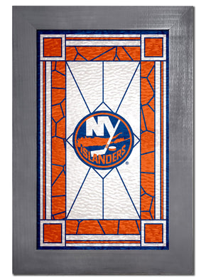 New York Islanders Stained Glass Wood Sign